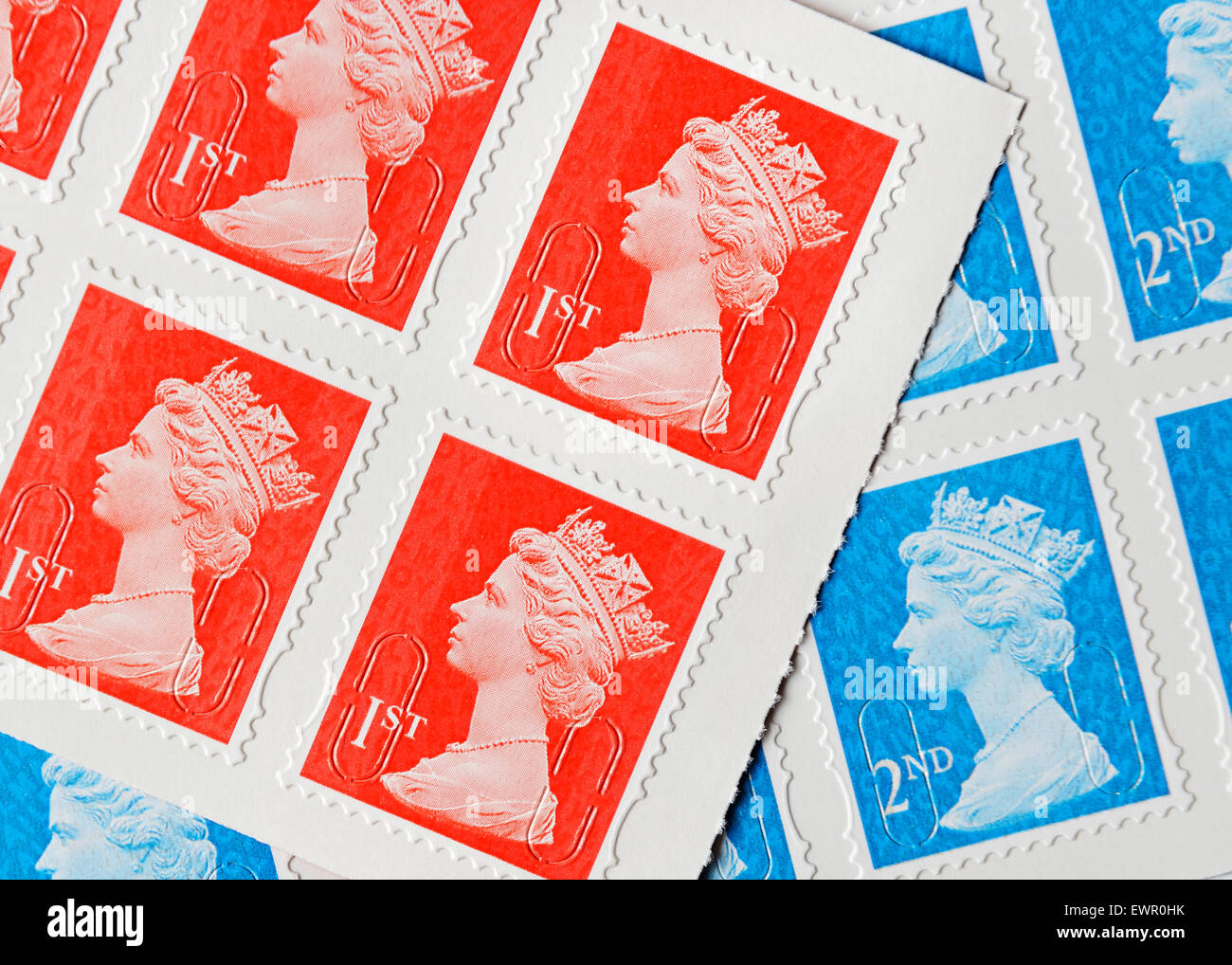 UK Postage Stamps. - Stock Image