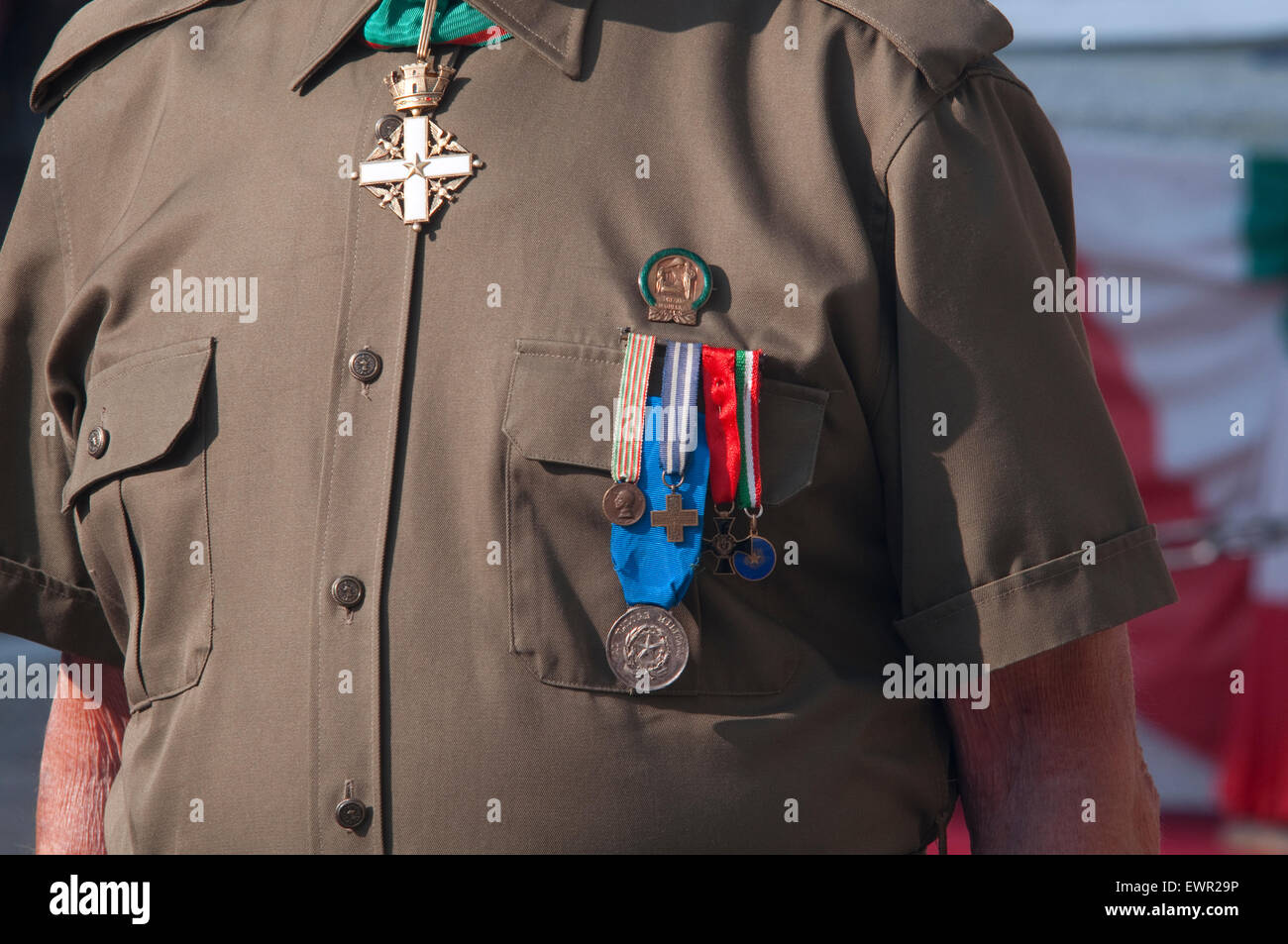 Italy, Lombardy, War Medals of the Second World War - Stock Image