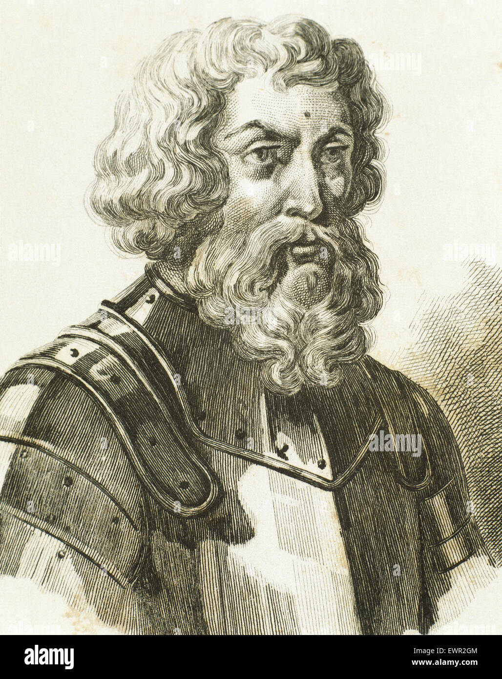 Dmitry Donskoy (1350-1389). Grand Prince of Moscow. Engraving. - Stock Image