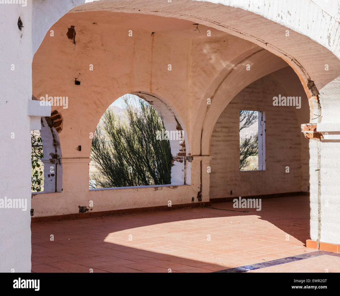 This structure was abandoned after plans for a real estate development in San Carlos failed.  Developers had planned - Stock Image