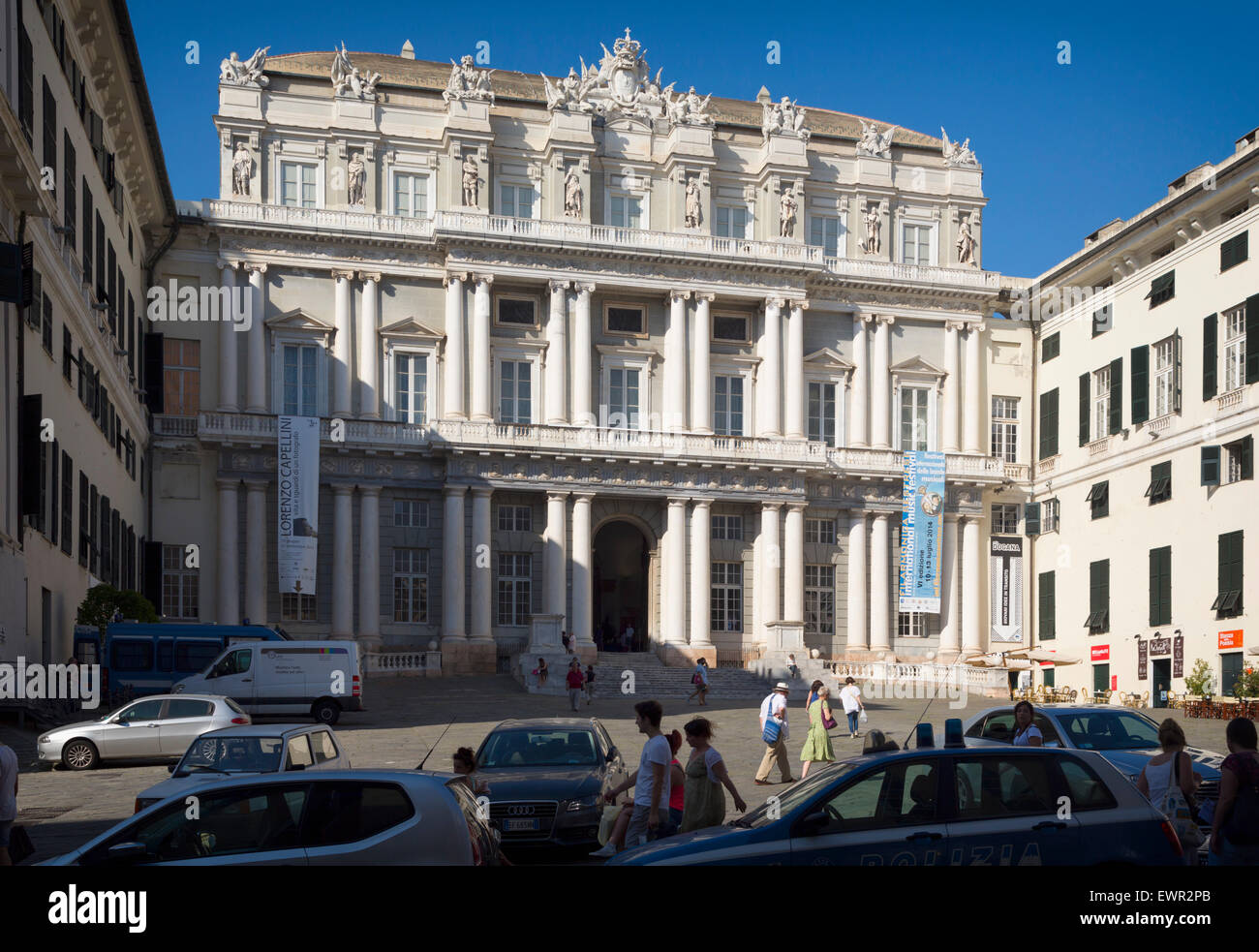 Genoa, Liguria, Italy.  16th century Palazzo Ducale.  Ducal Palace. - Stock Image