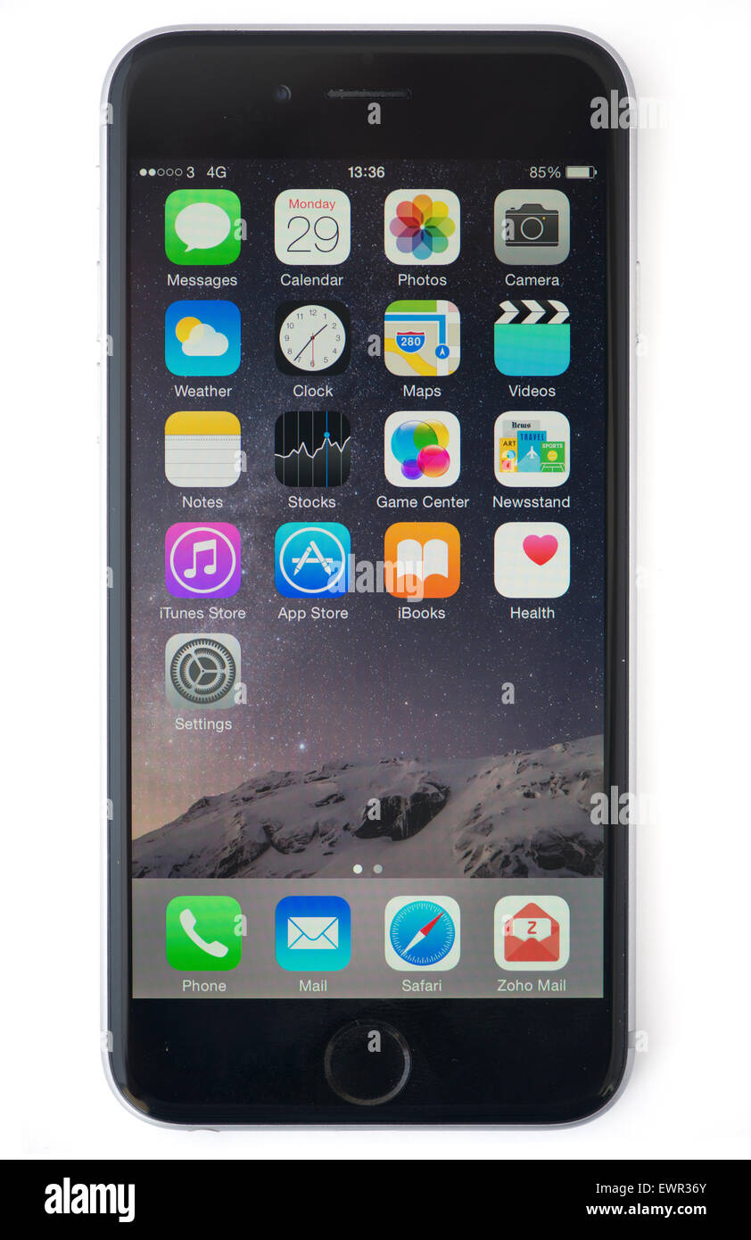 iphone 6 with screen - Stock Image