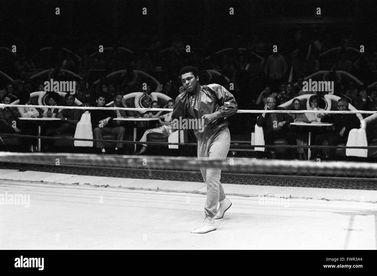 Muhammad Ali training ahead of his fight with Bugner in Las Vegas. 4th February 1973 - Stock Image