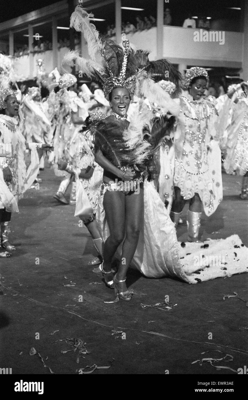 The Carnival held just before Lent  every year in Rio de Janeiro. The Carnival lets  samba schools compete with - Stock Image