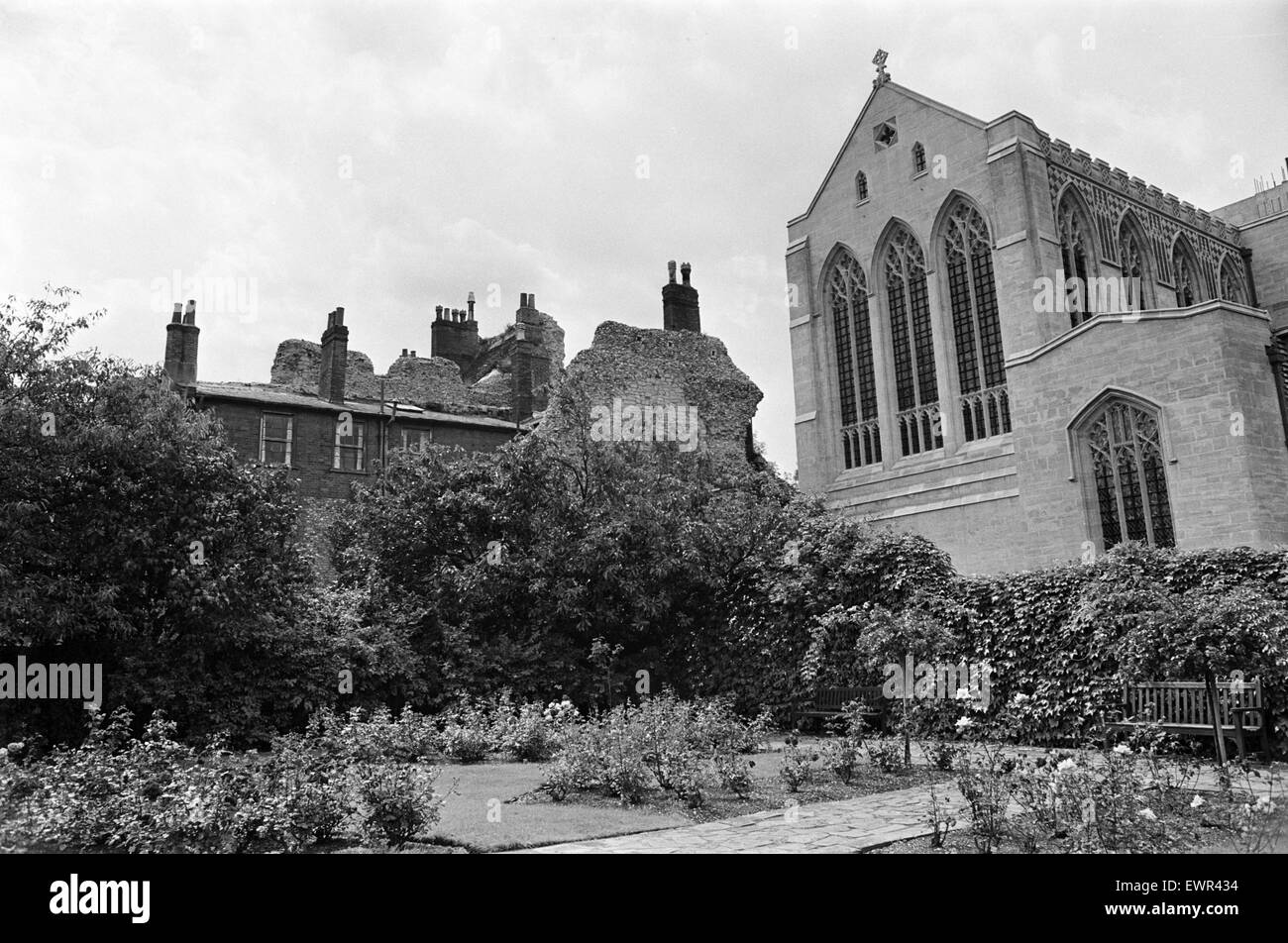 Bury St Edmunds Abbey in Suffolk. 16th August 1968. - Stock Image