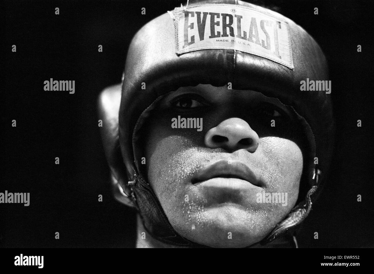 Muhammad Ali sparring ahead of his fight with Bugner in Las Vegas. 4th February 1973 - Stock Image