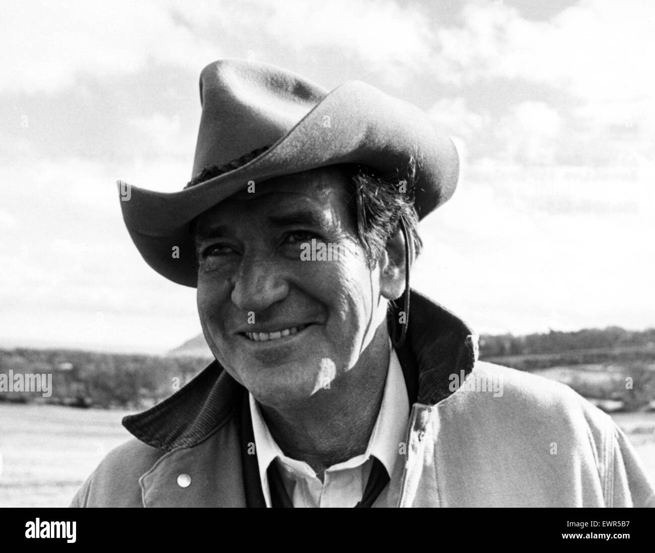 Actor Rod Taylor is pictured during a break in filming whilst on location in Ireland. 25th May 1978. - Stock Image