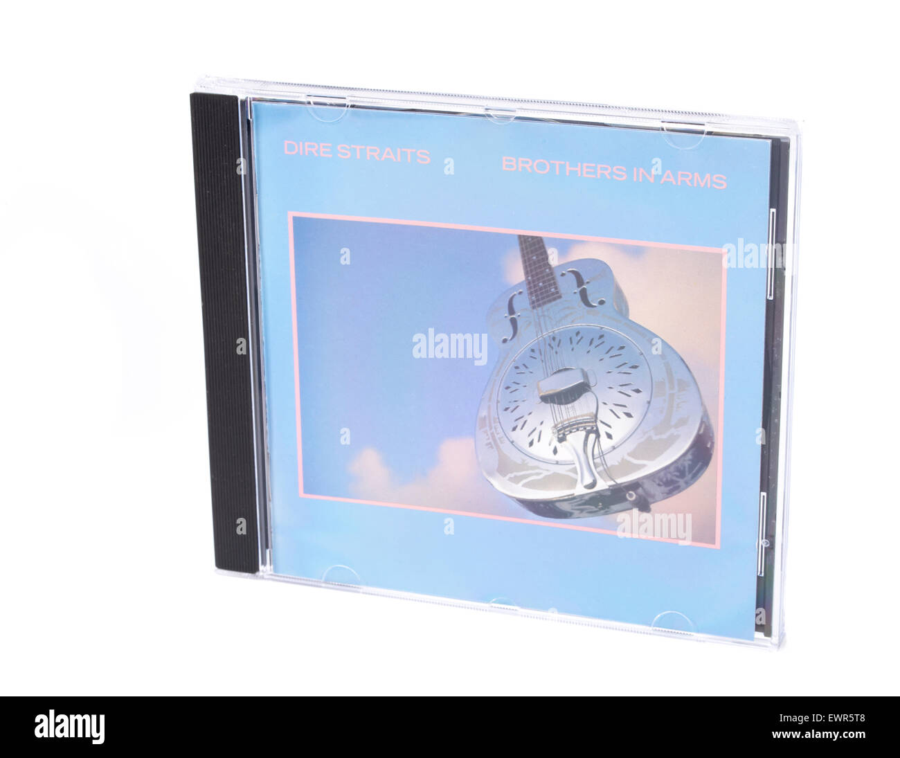 Brothers in Arms Compact Disc by Dire Straits 1985 the first CD to sell 1 million copies. - Stock Image