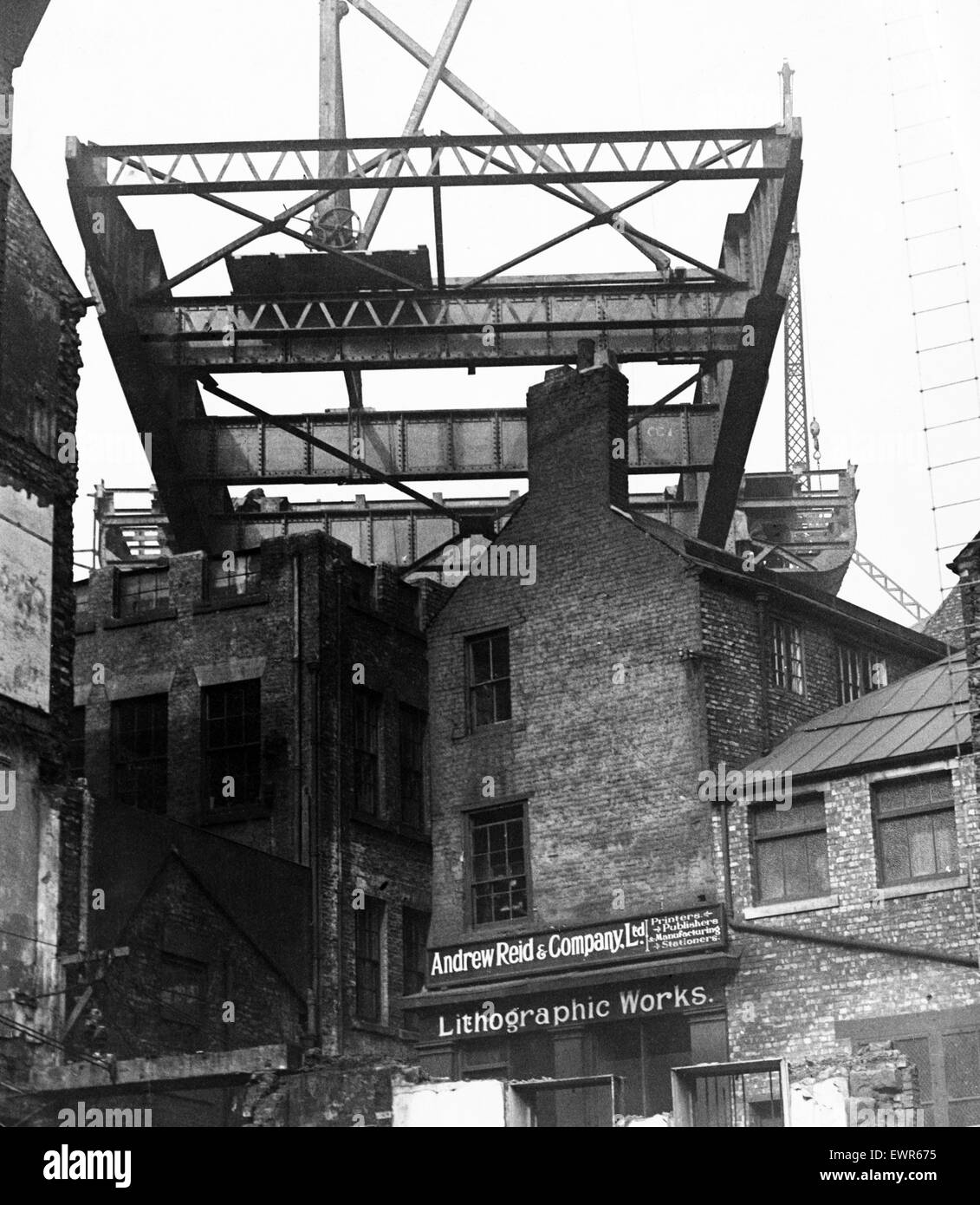 The construction of the new Tyne Bridge. Tyne and Wear, 17th March 1927. - Stock Image