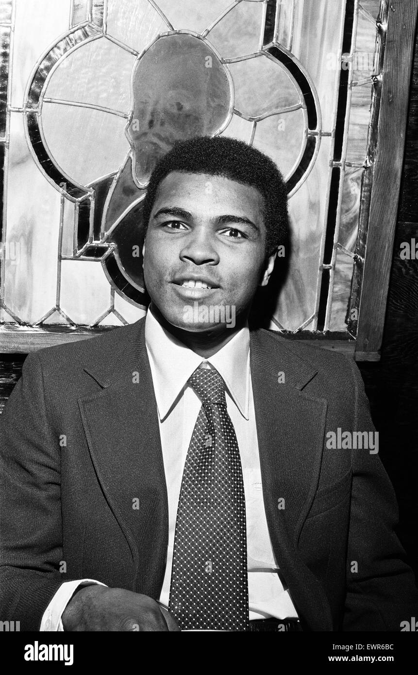 Muhammad Al at a Boxers Party. 18th January 1974 - Stock Image