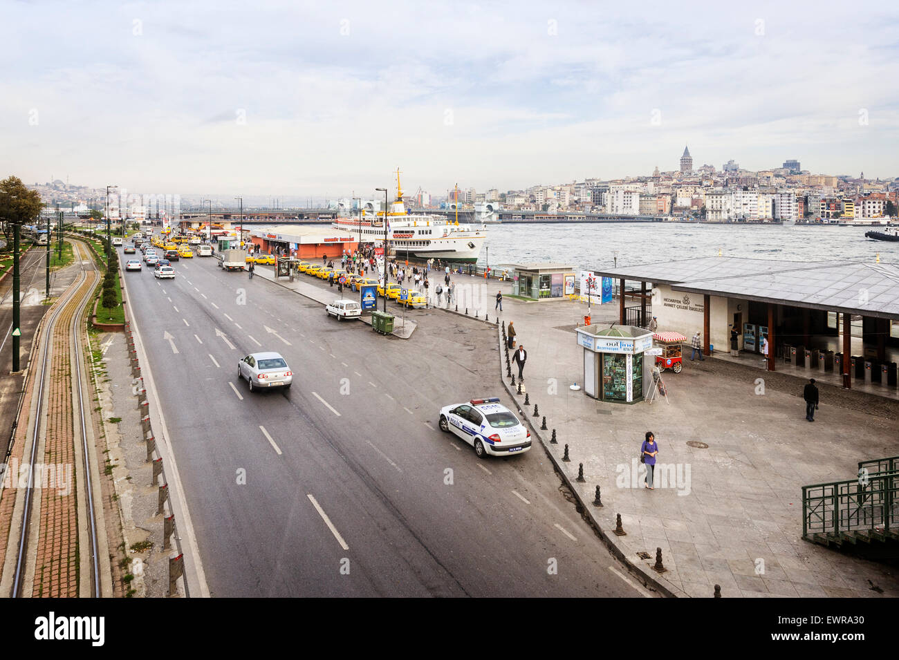 Emınönü Ferry Terminals Istanbul - Stock Image
