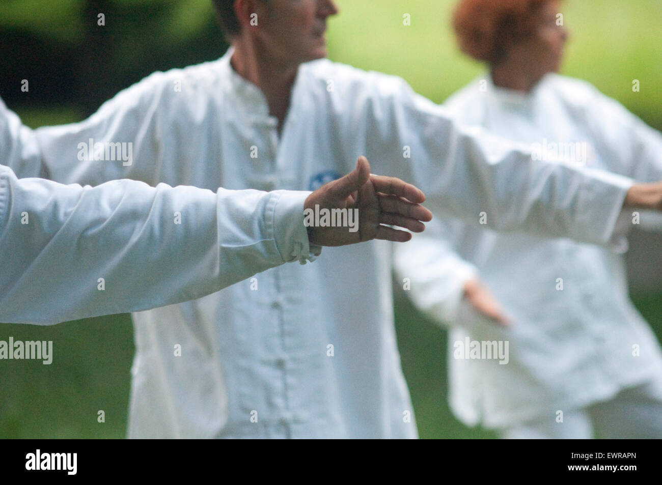 Tai Chi Martial Art - Stock Image