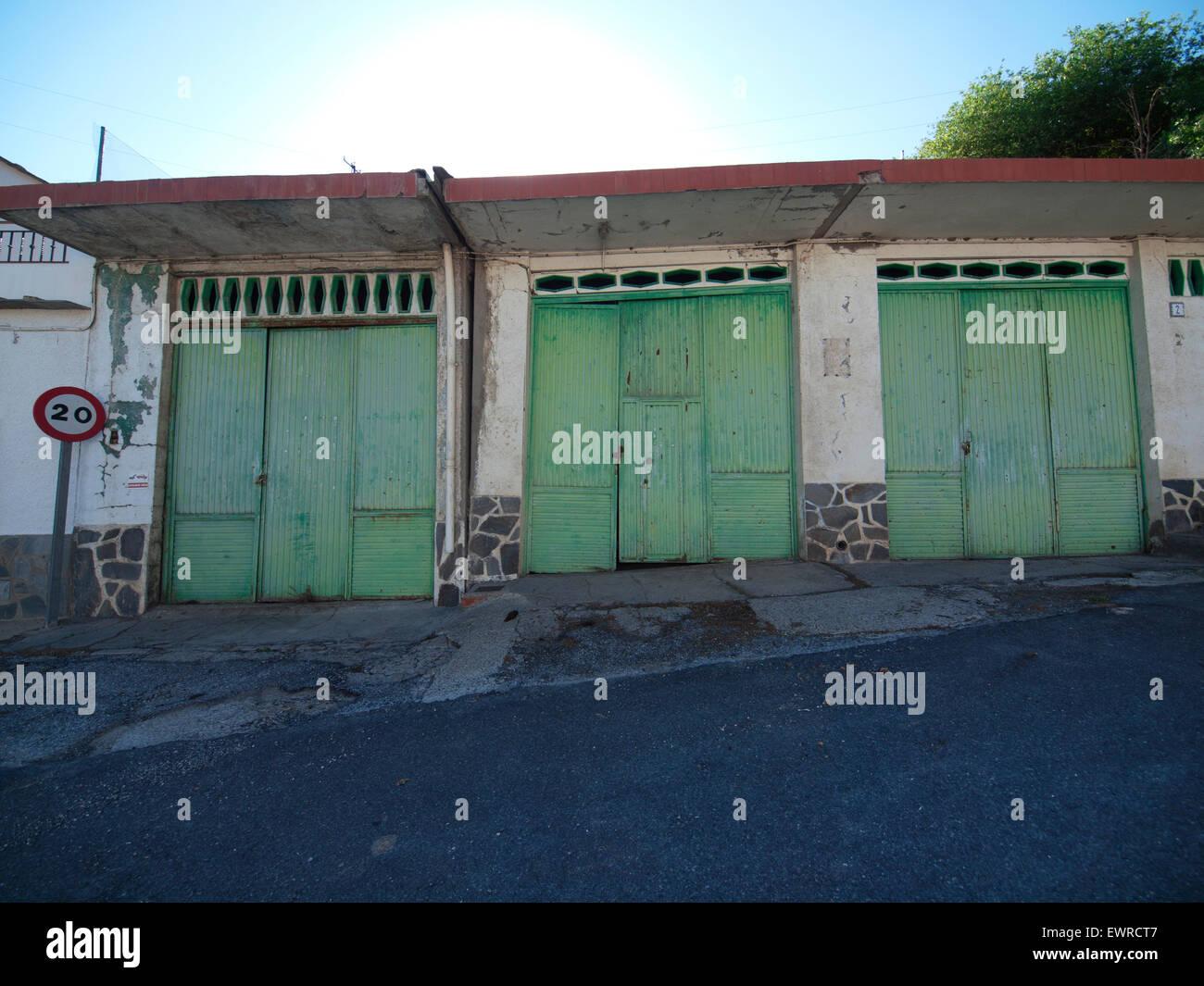 Green Garage Doors Stock Photos Green Garage Doors Stock Images