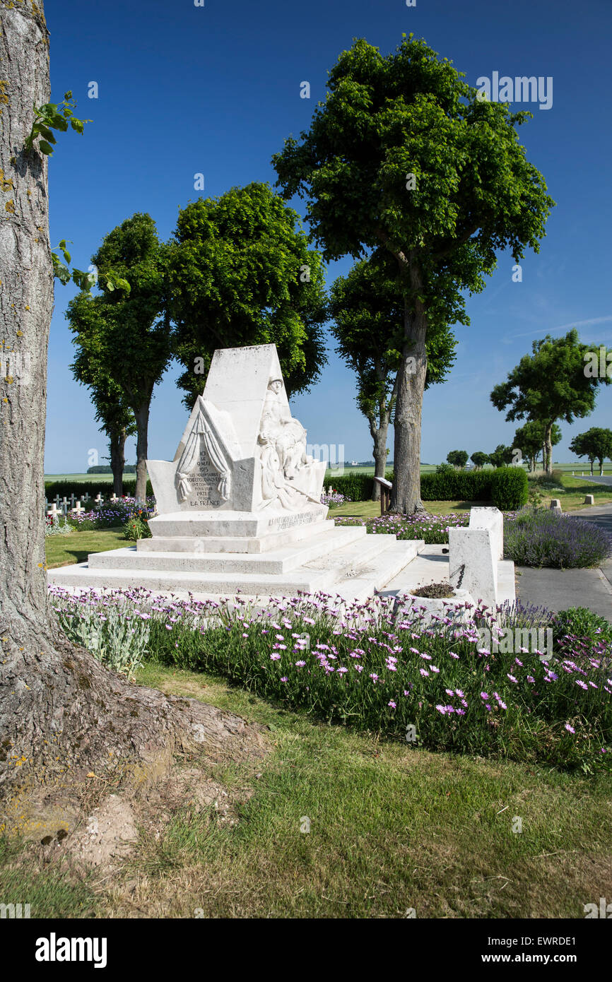 La Targette Czechoslovakian Cemetery and Memorial to the Czechoslovakian who died fighting for France in the Great - Stock Image