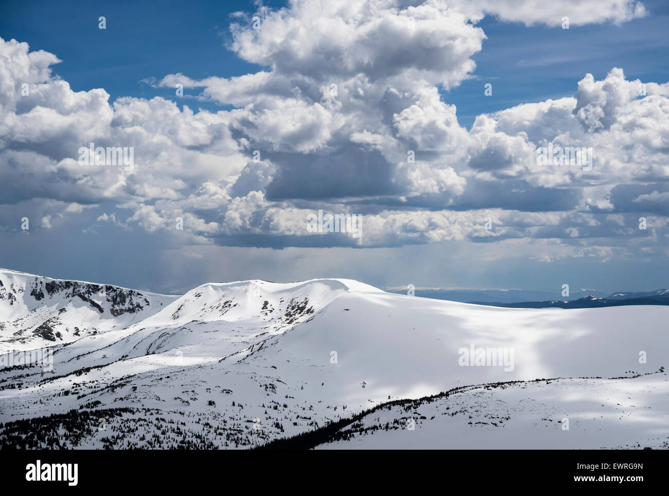 снож-цапед пеакс, Rocky Mountain National Park, Colorado, USA, North America, United States - Stock Image