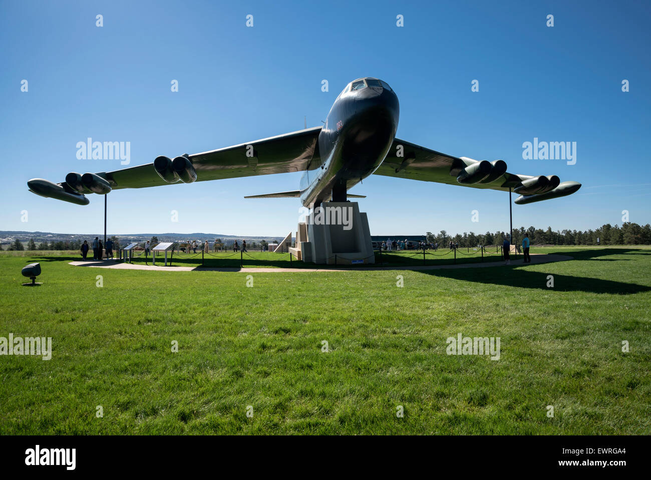 Display of  B-52D bomber at the United States Air Force Academy, Colorado Springs ,USA, North America , United States - Stock Image