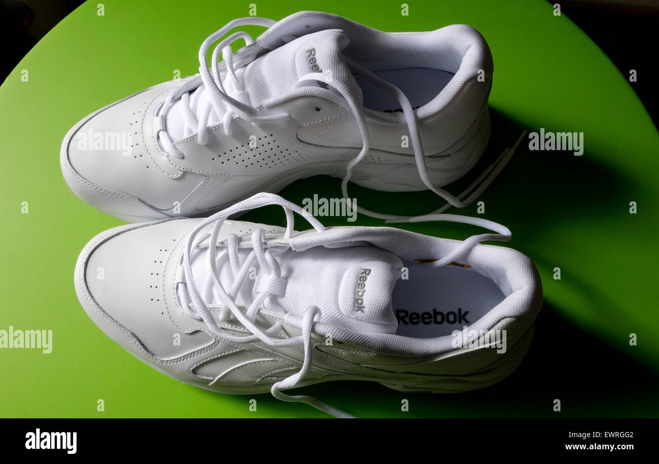 e9856540 Reebok white men's walkers, Walk Ultra IV DMX Stock Photo: 84725762 ...