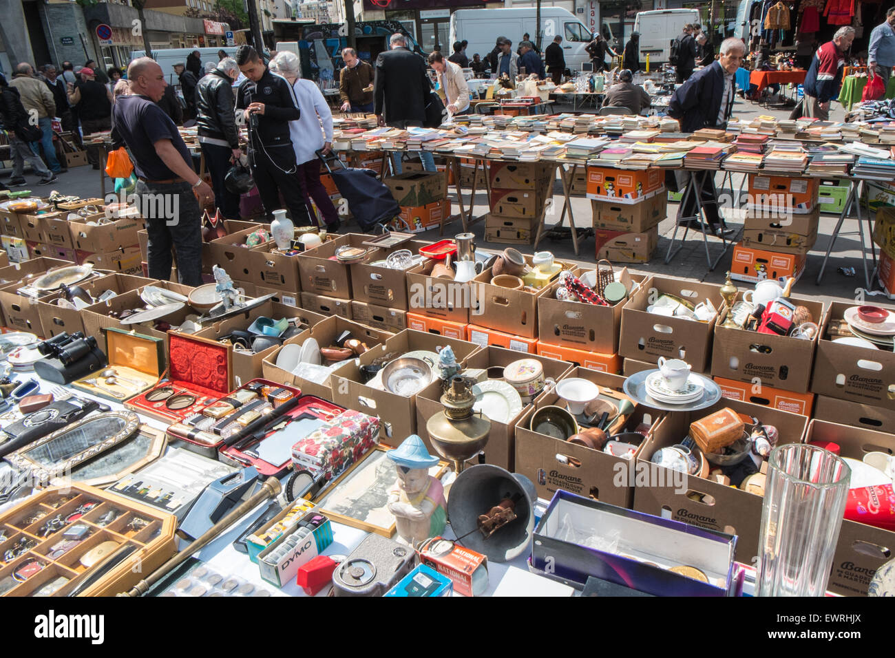 Paris,France,Place,flea,market,Paris,d\'Aligre,Marche,secondhand ...