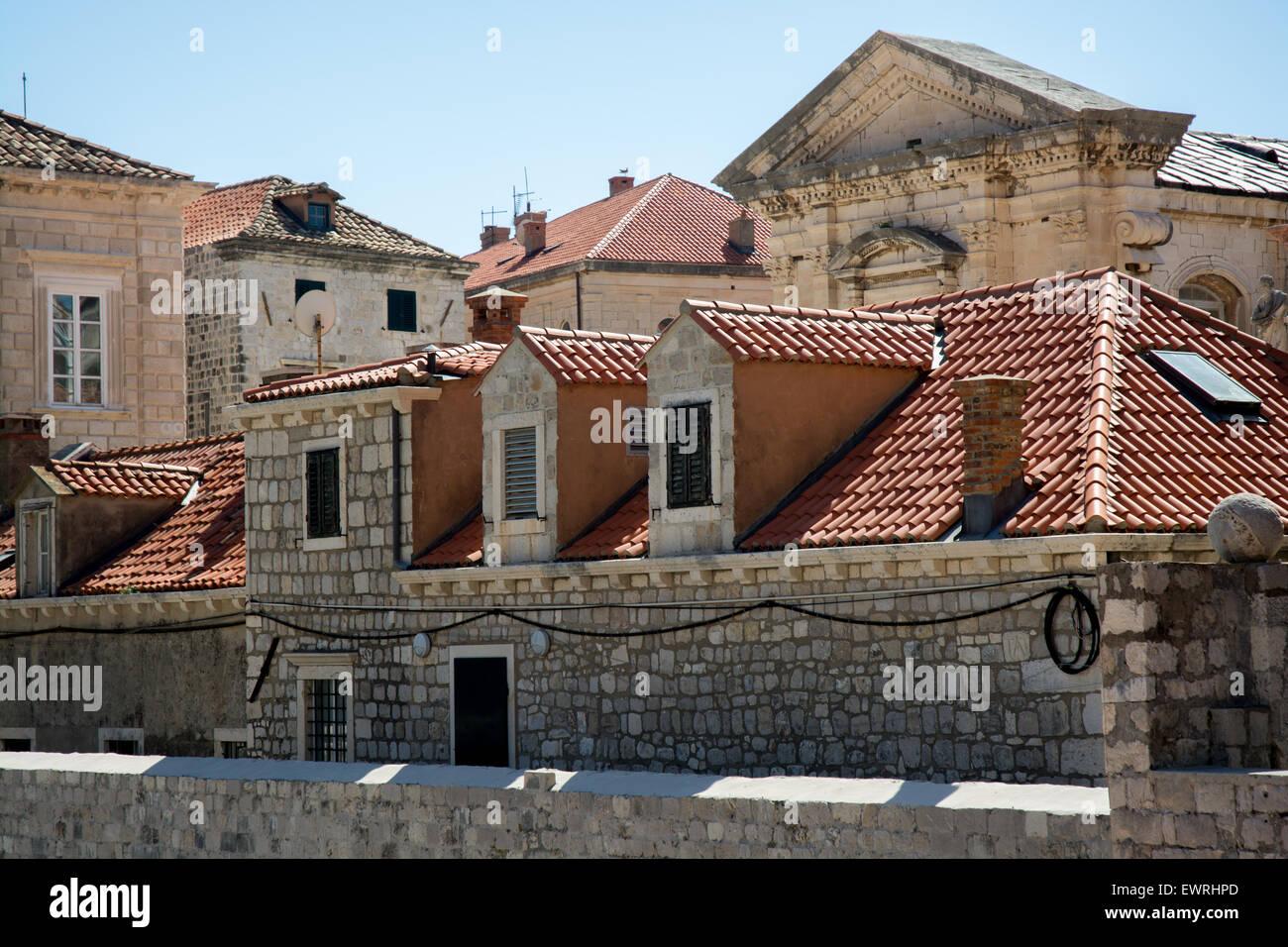 buidings in old city, dubrovnik, croatia - Stock Image