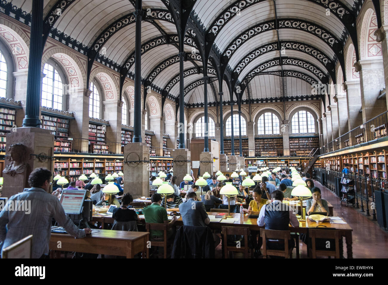 Bibliotheque Sainte Genevieve - public library in the Latin Quarter, Paris France - Stock Image