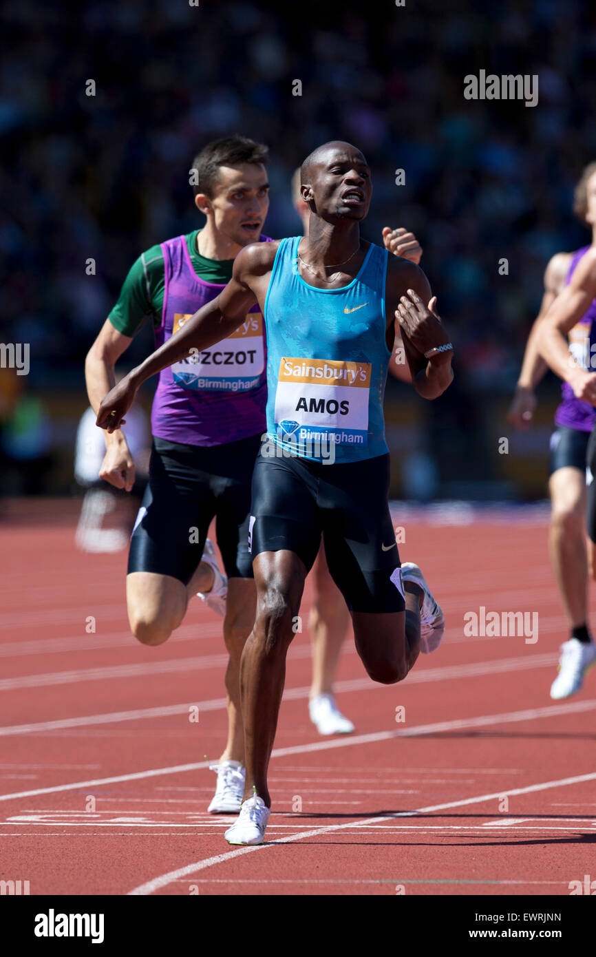 Nijel AMOS, Adam KSZCZOT, Men's 800m, IAAF Diamond League 2015, Alexander Stadium, Birmingham, UK, 7th June 2015. Stock Photo