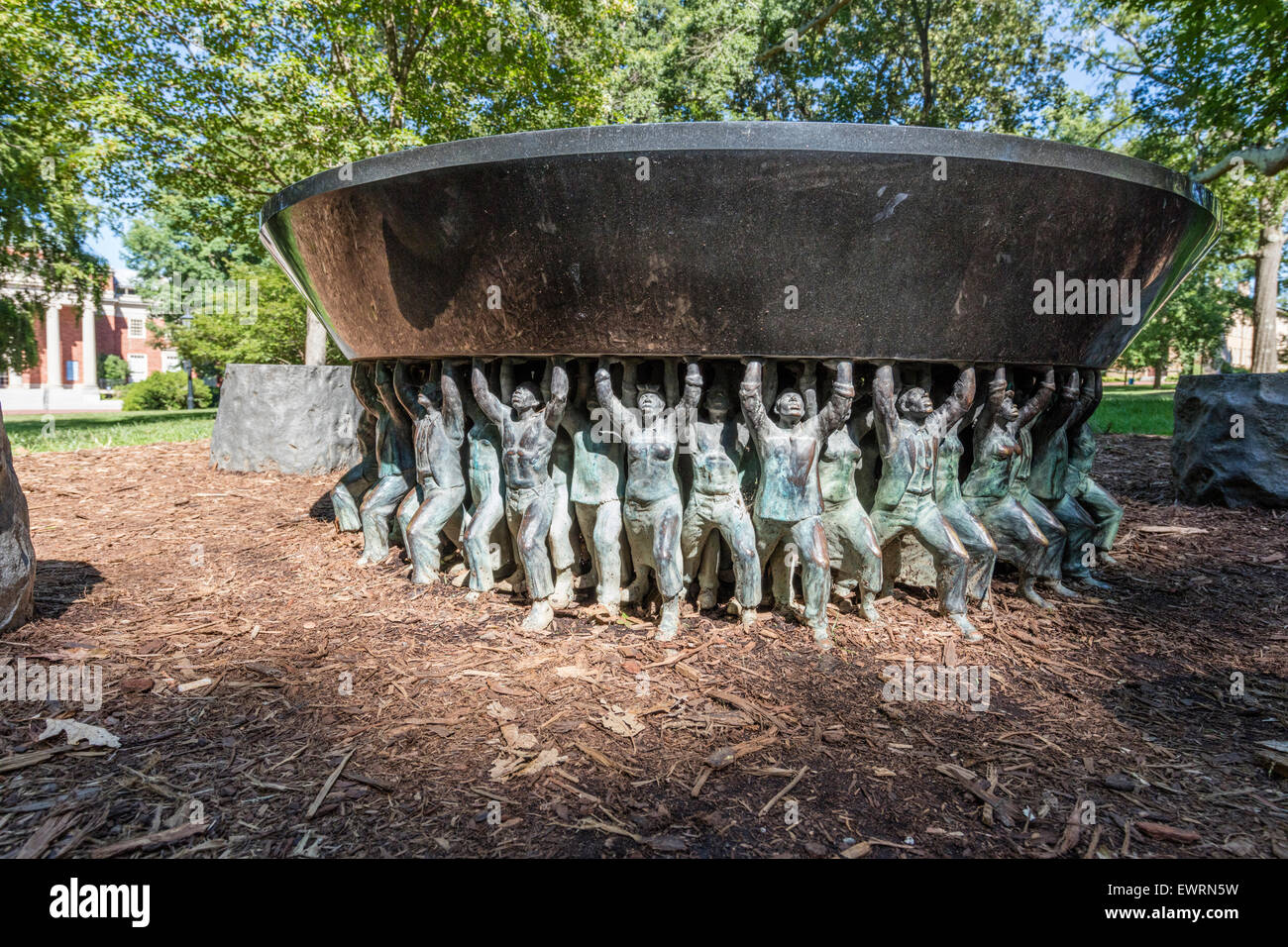 Unsung Founders Memorial on the campus of the University of North Carolina, Chapel Hill. - Stock Image