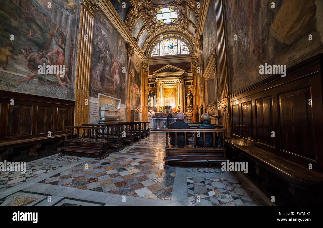 Santa Maria sopra Minerva Church Stock Photo