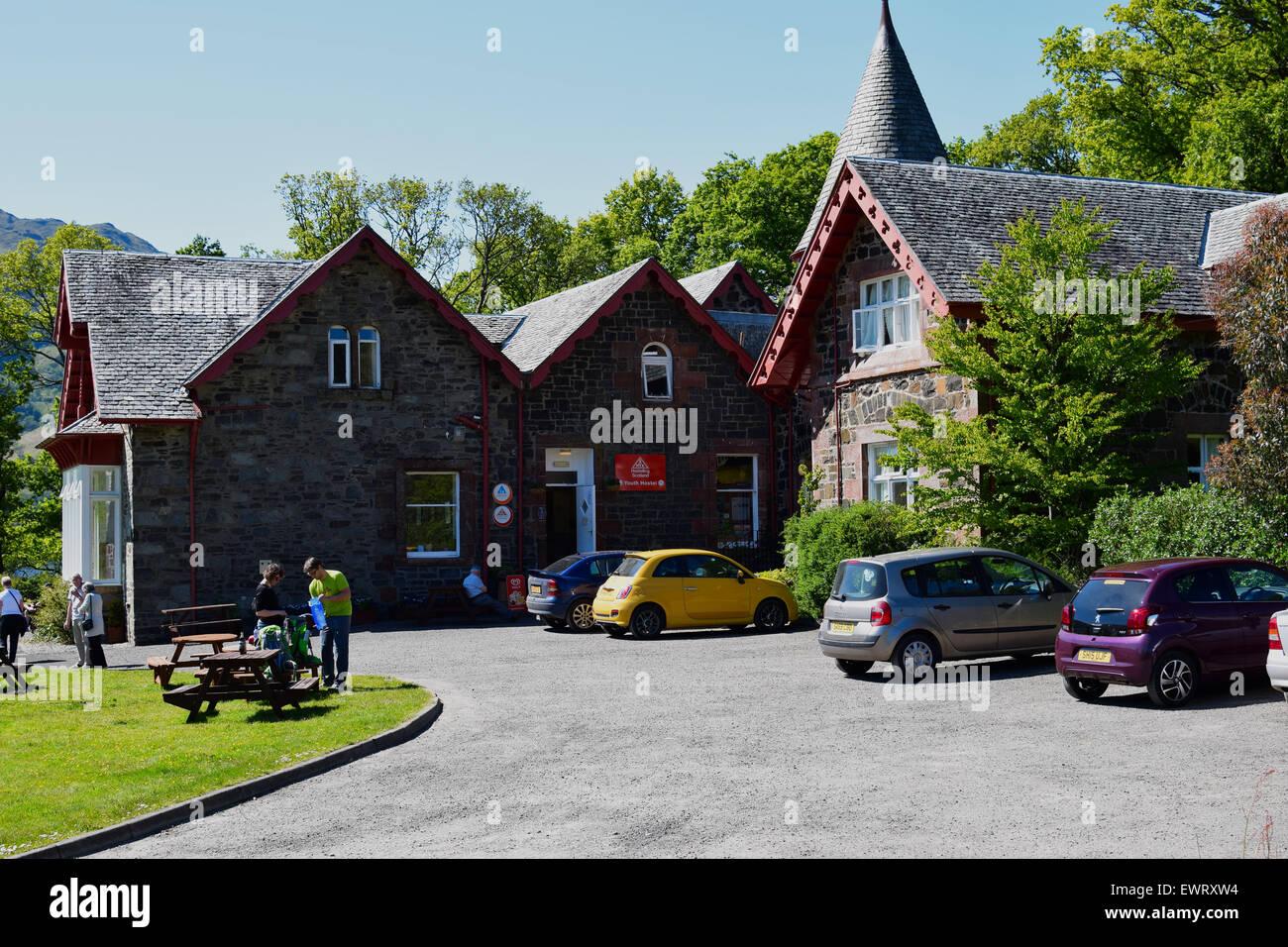 Rowardennan Youth Hostel, on the shore of Loch Lomond, Scottish Highlands. Stock Photo