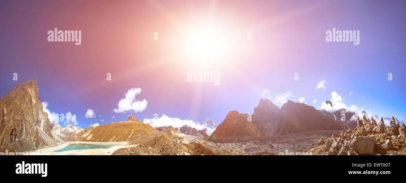 Beautiful mountain landscape - Stock Image