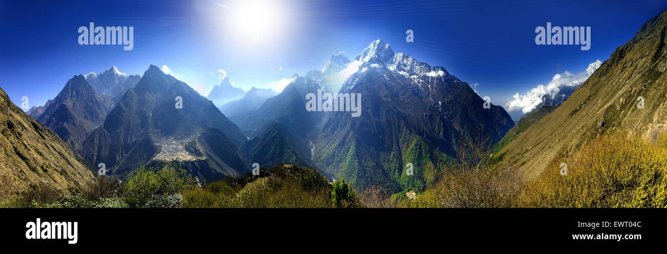 Beautiful mountain lanscape. - Stock Image