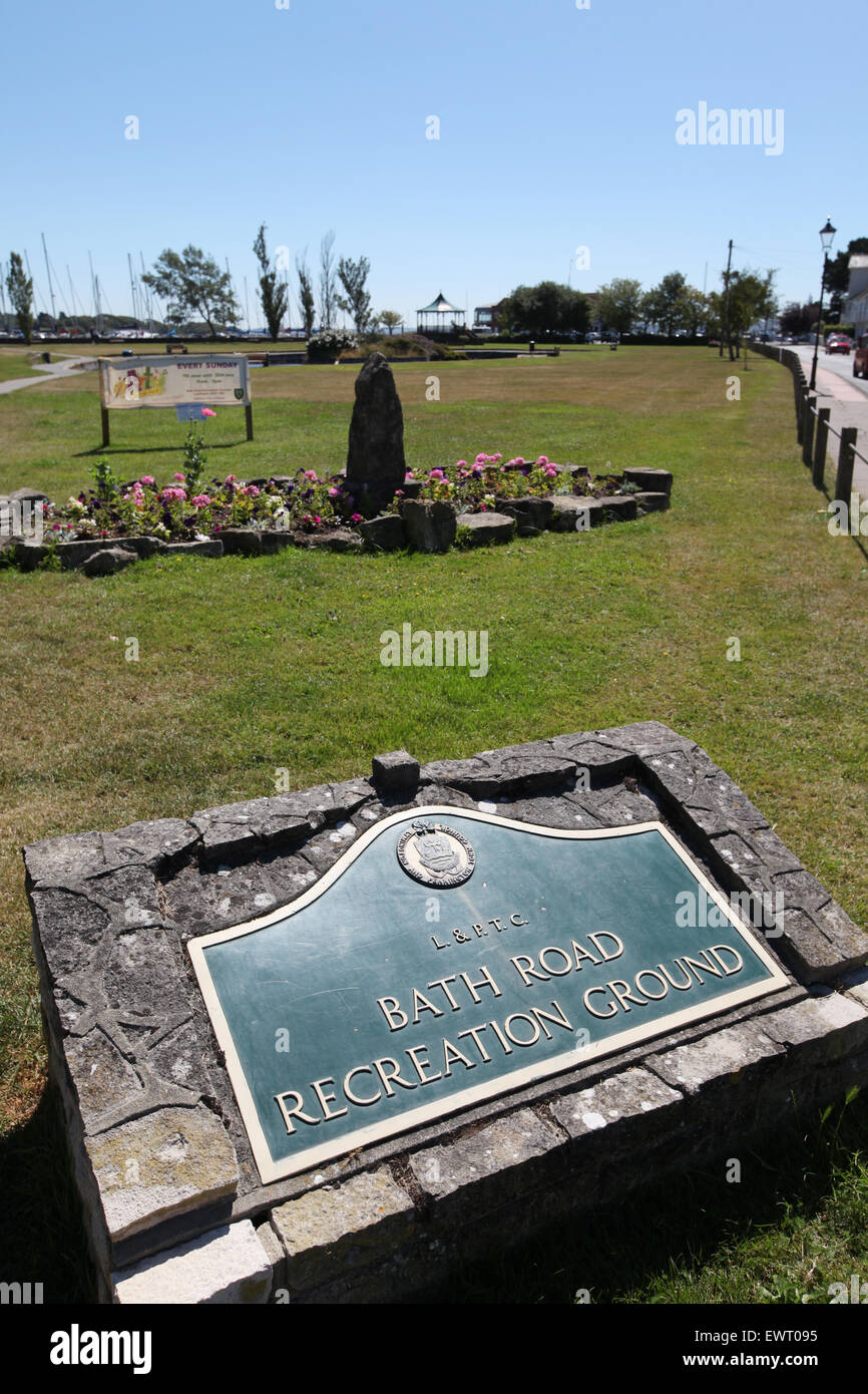 Bath Road recreation ground Lymington - Stock Image