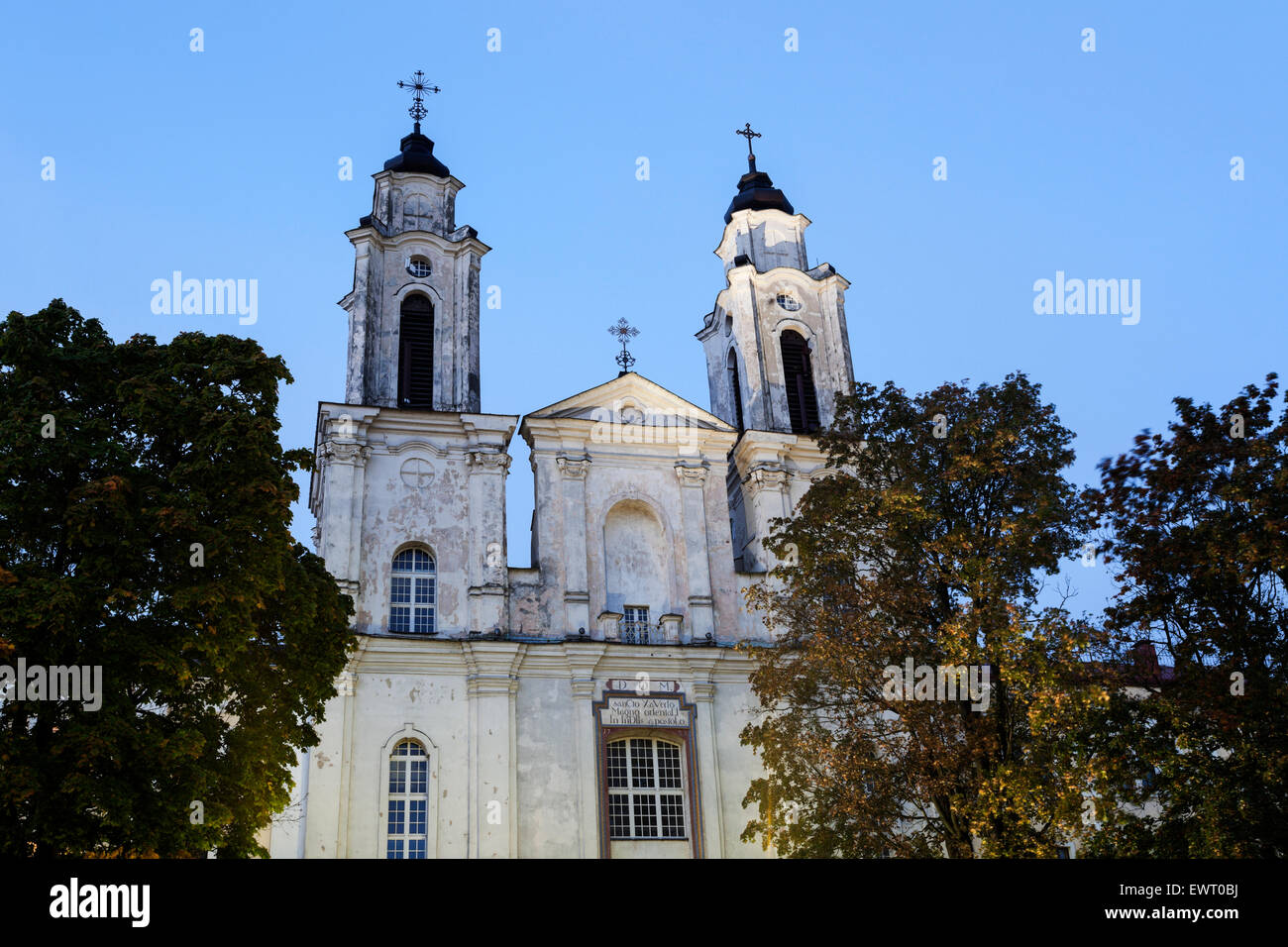 Church of St. Francis Xavier, Kaunas, Lithuania. - Stock Image