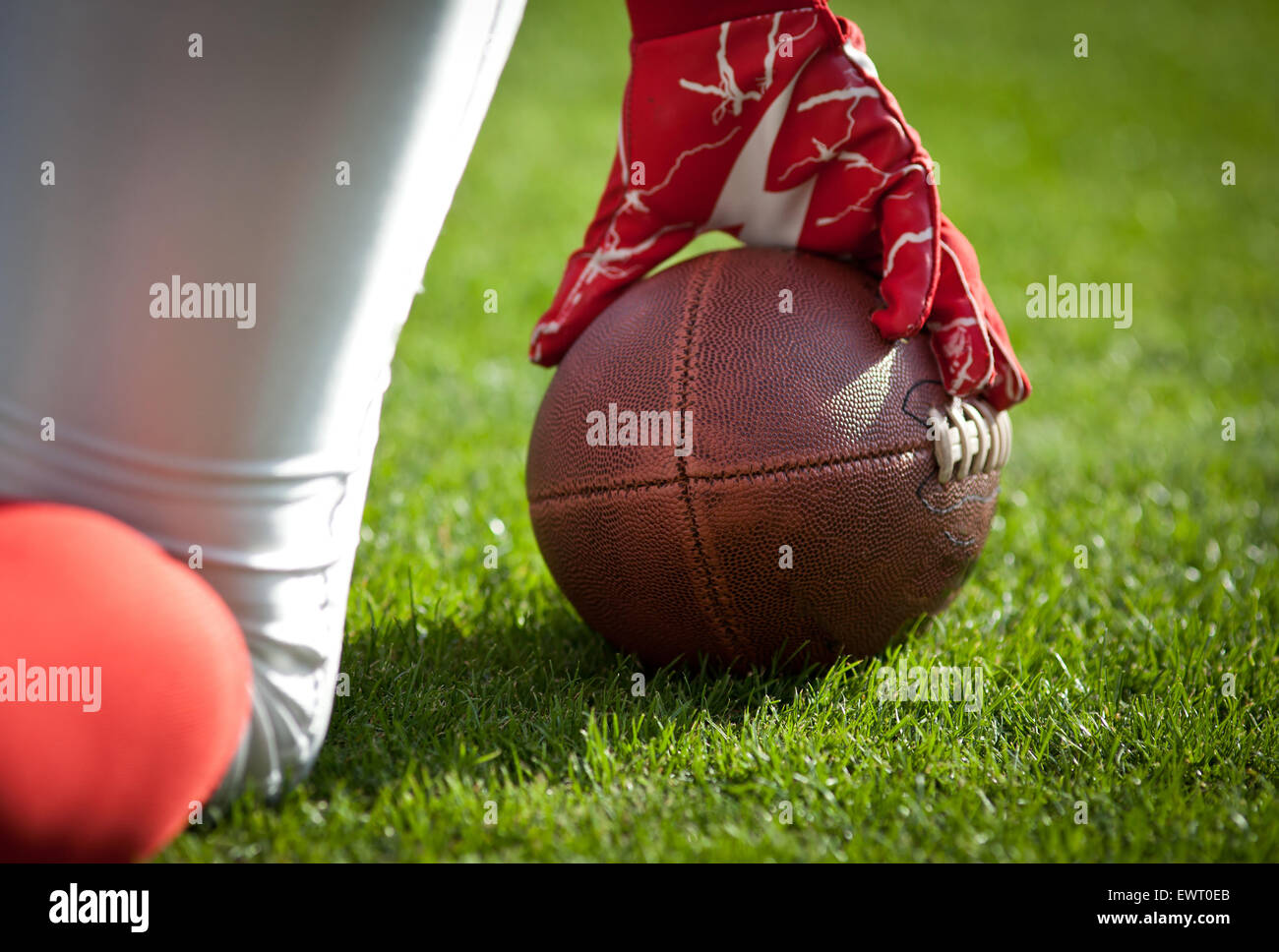 american football game - sport concept - Stock Image