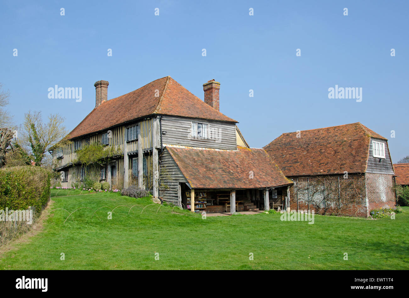 Smallhythe Place, near Tenterden, Kent. The home of Victorian actress, Ellen Terry until her death in 1928. - Stock Image