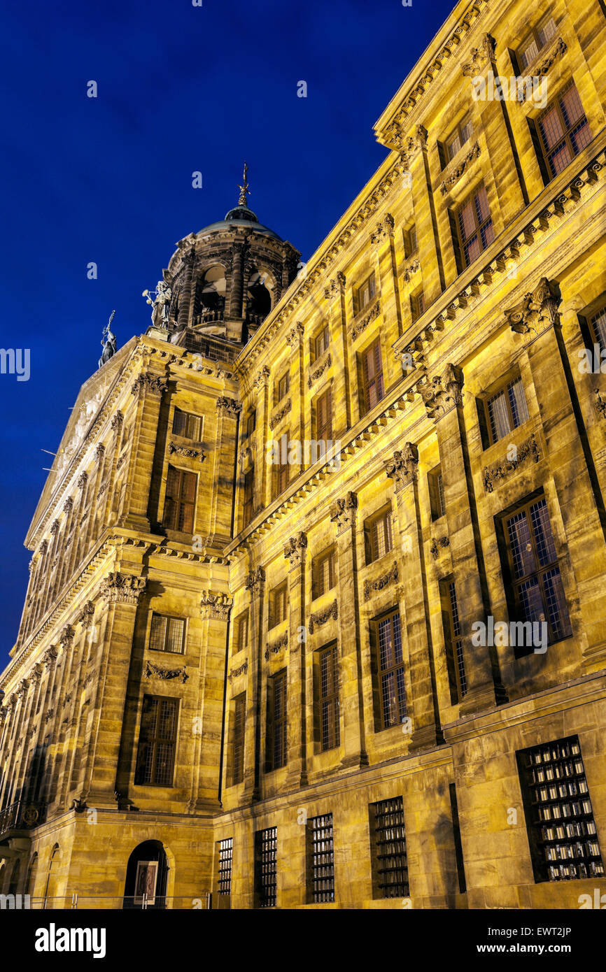 Royal Palace in Amsterdam. Amsterdam, North Holland, Netherlands. - Stock Image
