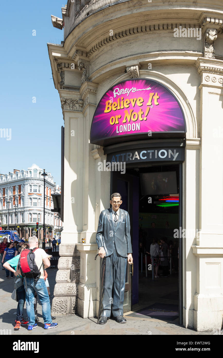 Ripley's Believe It or Not! attraction, Piccadilly Circus, West End, The City of Westminster, London, England, - Stock Image