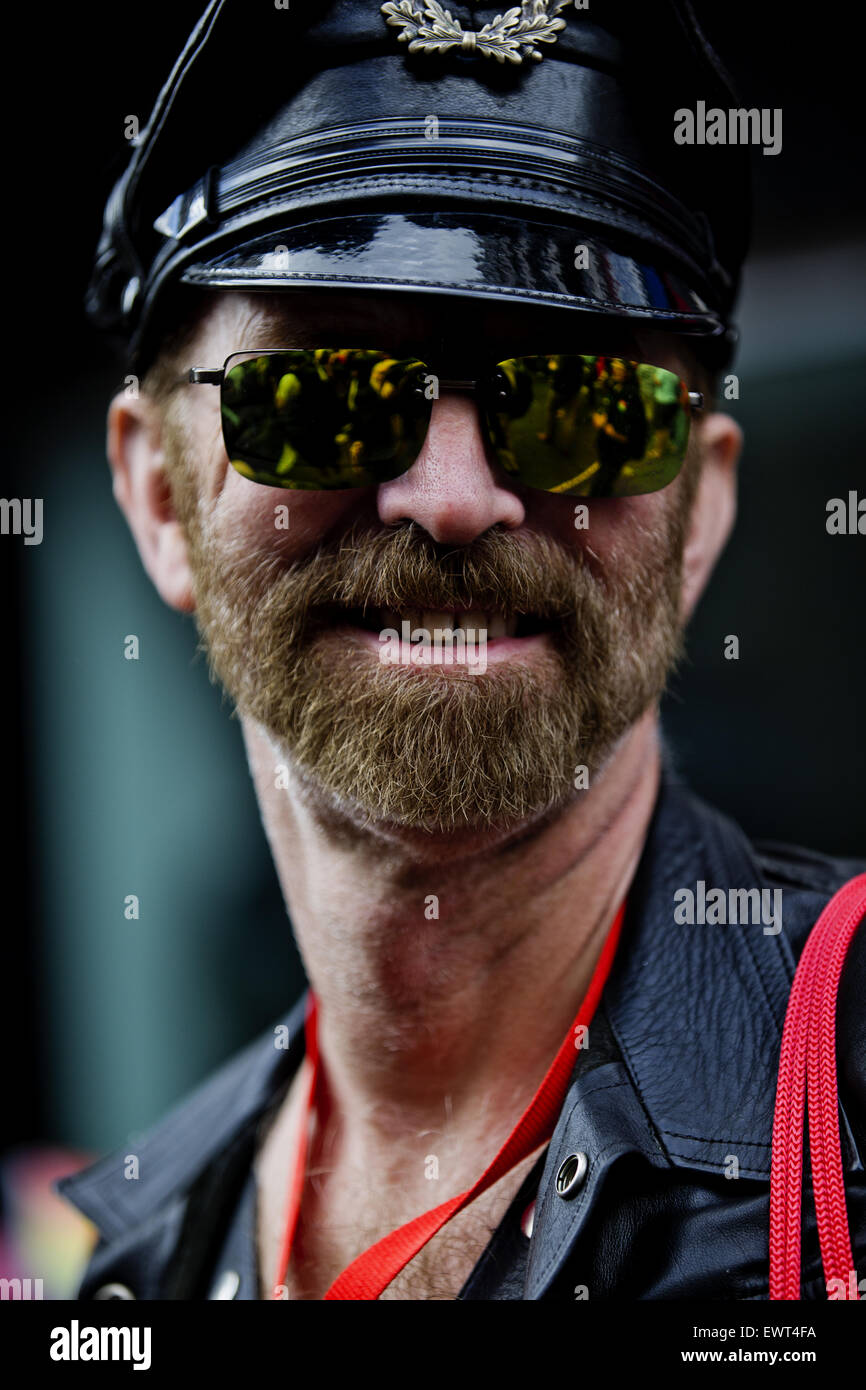 Pride in London Parade, 2015, Baker Street, Marylebone, London; England; UK - Stock Image