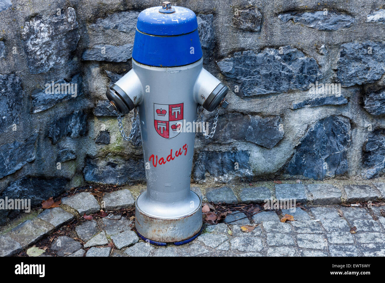 Fire hydrant in Vaduz, Liechtenstein, Europe. - Stock Image