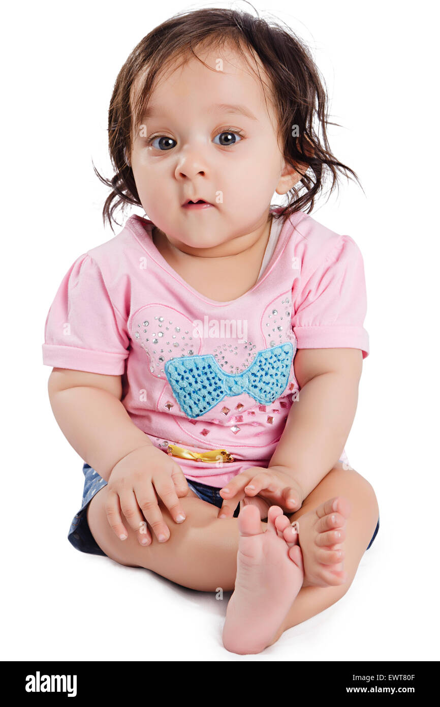 1 indian cute child baby stock photo: 84741007 - alamy