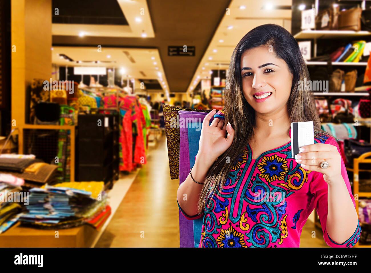 indian woman housewife credit card stock photos indian woman