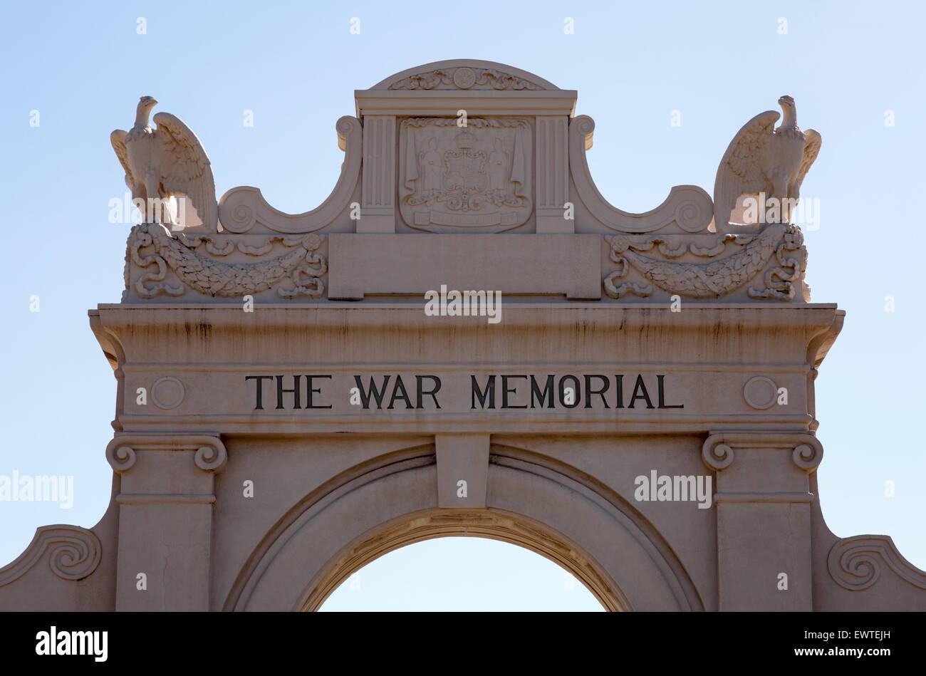 Honolulu, Hawaii. 26th Jun, 2015. The arch entrance to the Waikiki Natatorium War Memorial in Waikiki, Honolulu, - Stock Image