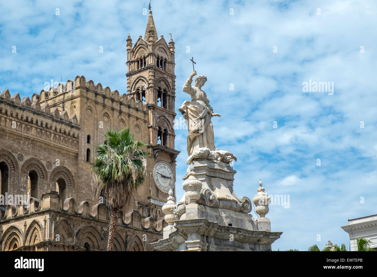 The Cathedral in Palermo, Sicily. - Stock Image