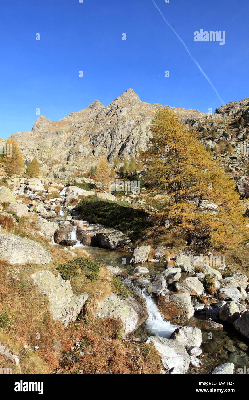 The Gordolasque valley in the Mercantour national park, Alpes- Maritimes, France Stock Photo