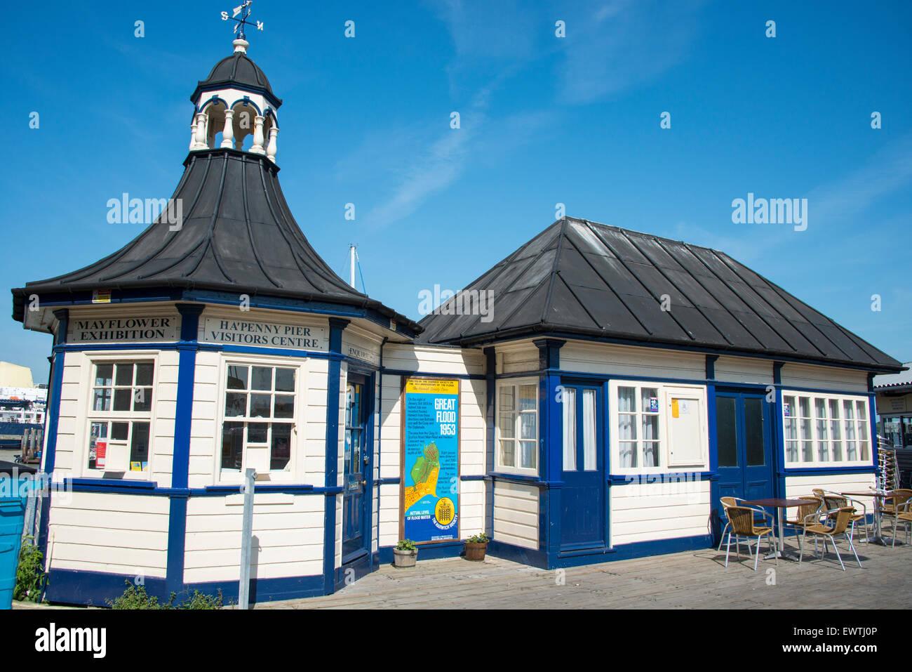Ha'Penny Pier Visitors Centre, The Quay, Harwich, Essex, England, United Kingdom - Stock Image