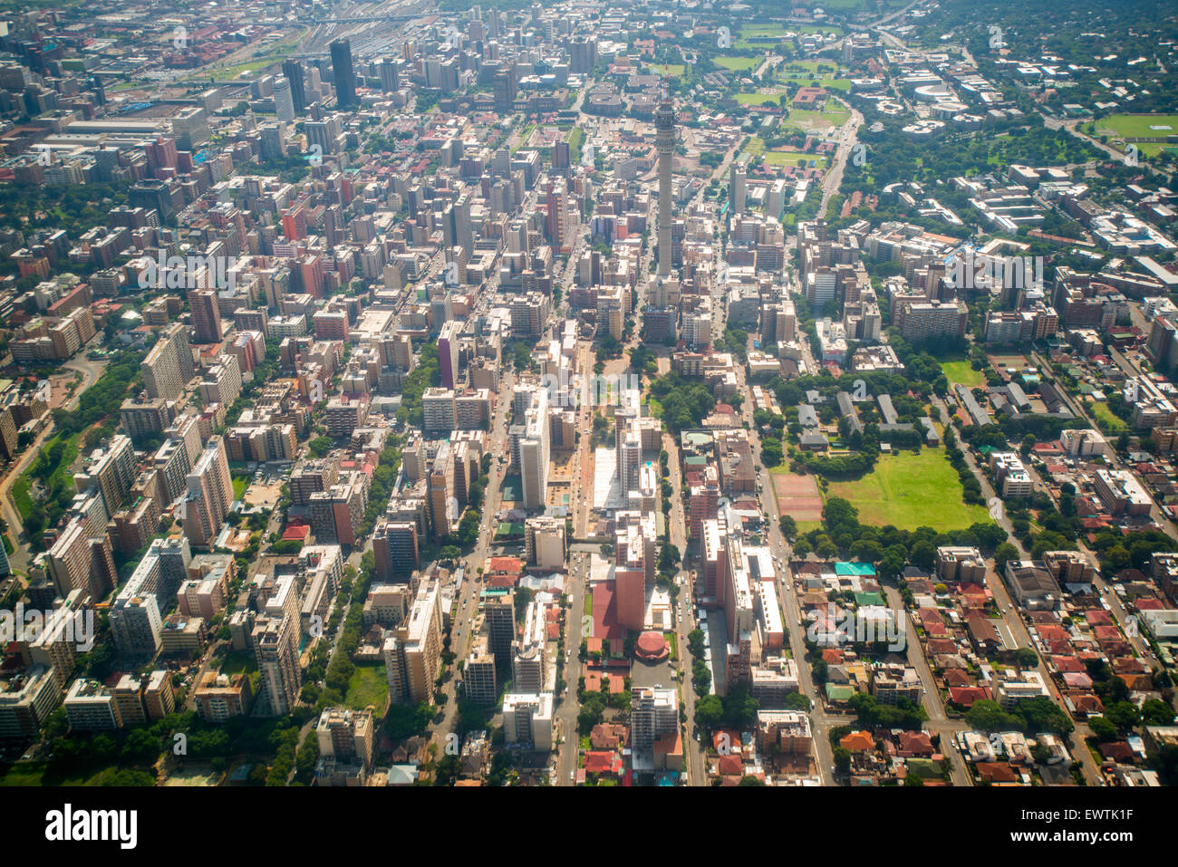 SOUTH AFRICA- Aerial view of Johannesburg Stock Photo