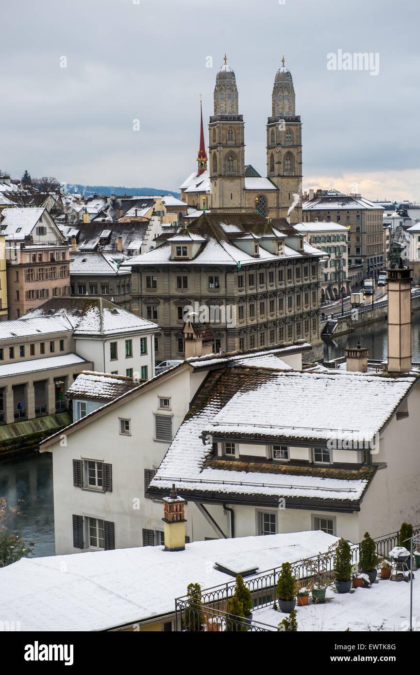 Scenic skyline of Zurich Switzerland, Europe - Stock Image