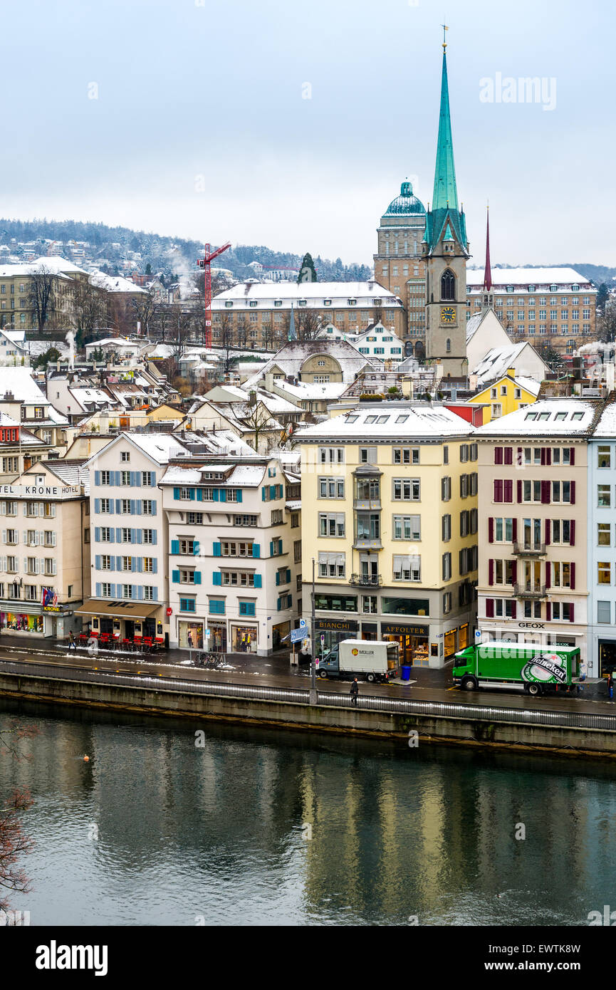 Skyline of Zurich Switzerland, Europe - Stock Image