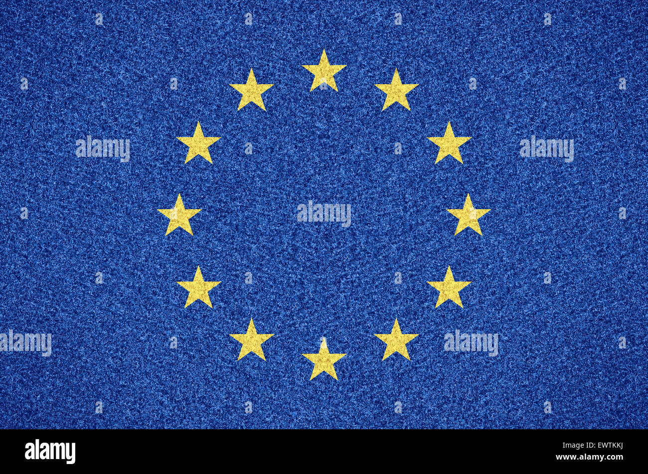 flag of European Union or Europe symbol of on abstract background - Stock Image