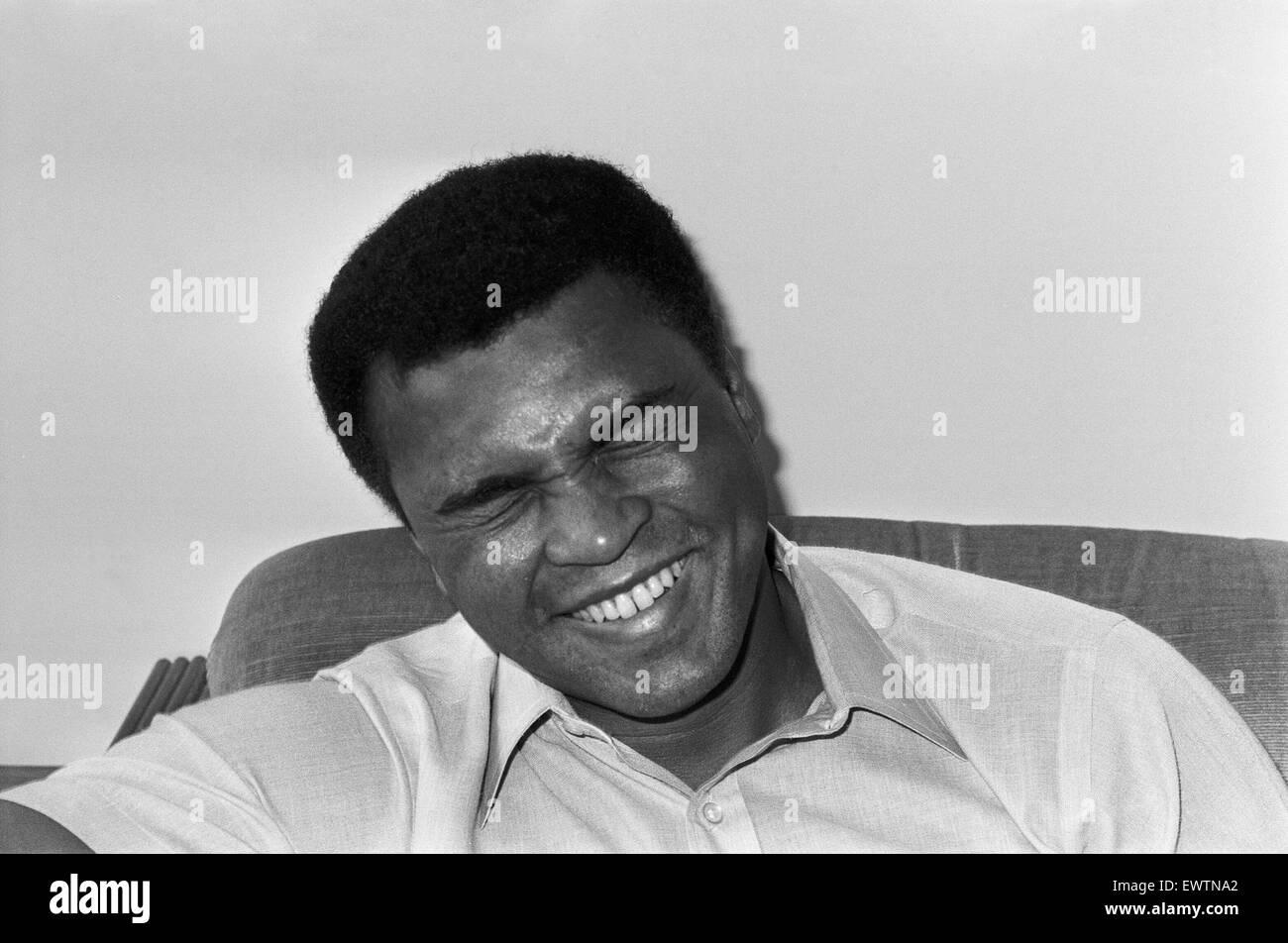 Muhammad Ali at the Albany Hotel in Birmingham. 1st May 1984 - Stock Image