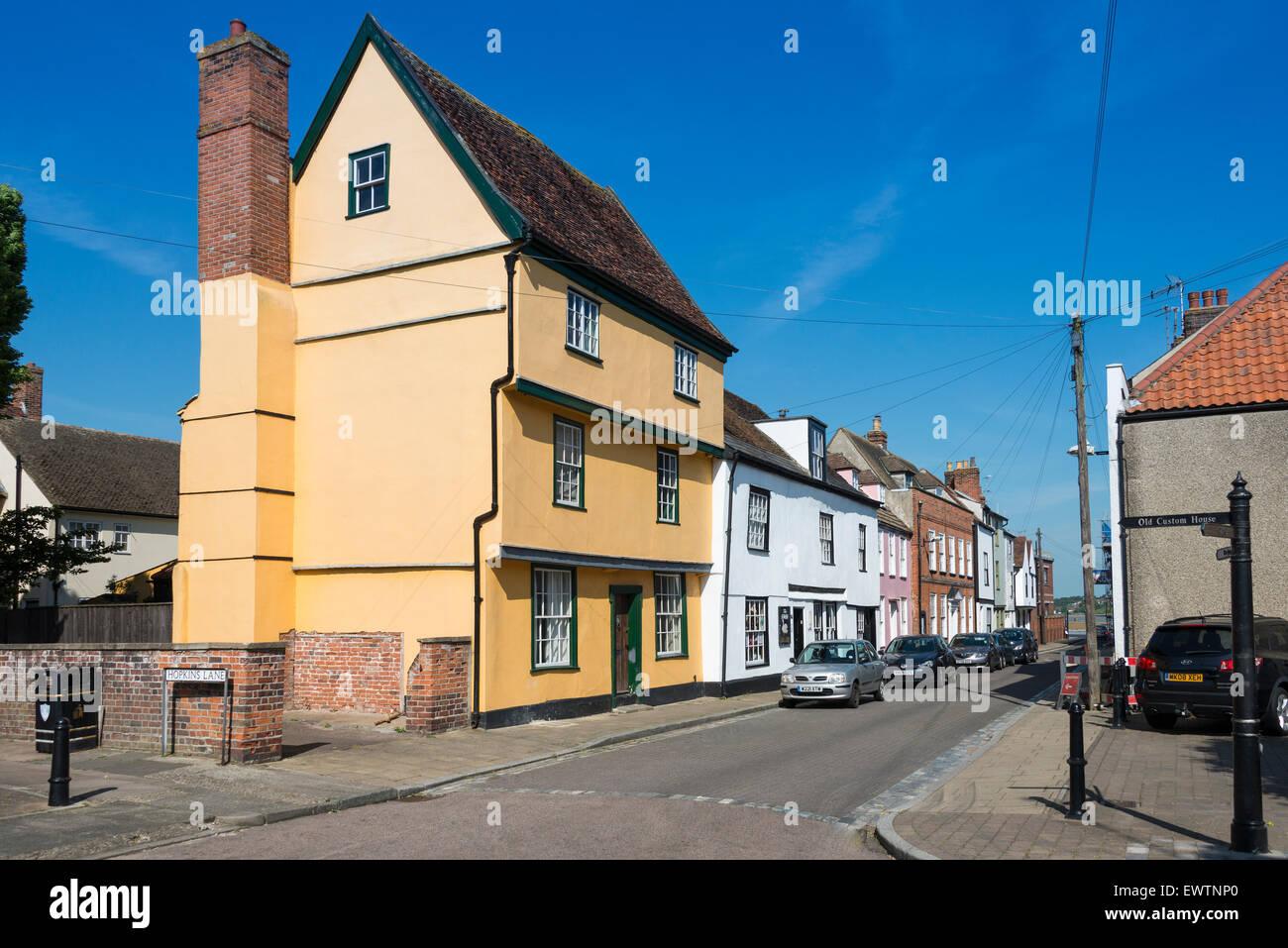 Medieval houses on King's Head Street, Harwich, Essex, England, United Kingdom - Stock Image